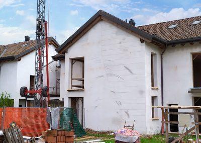 Abbassamento copertura di edificio